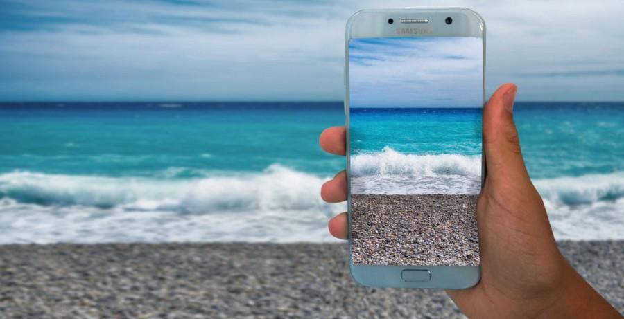 smartfon wakacje